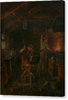 By Hammer And Hand All Arts Doth Stand Canvas Print by William Banks Fortescue