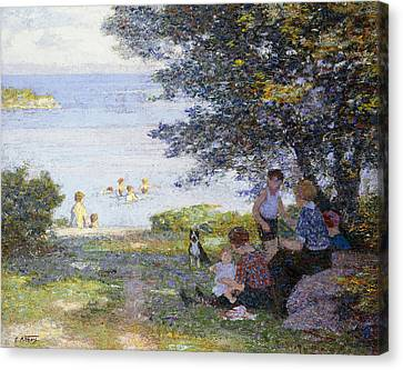 By The Water Canvas Print by Edward Henry Potthast