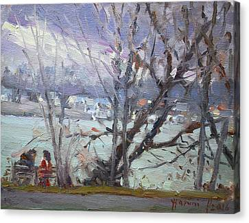 By Tonawanda Canal Canvas Print by Ylli Haruni