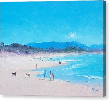 Byron Bay Beach Morning Canvas Print by Jan Matson
