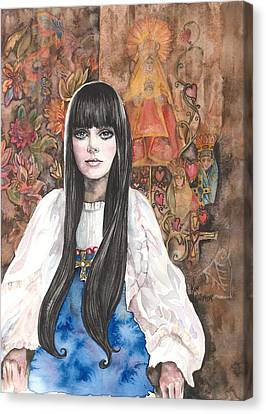 Byzantine Madonna Canvas Print by Kim Whitton
