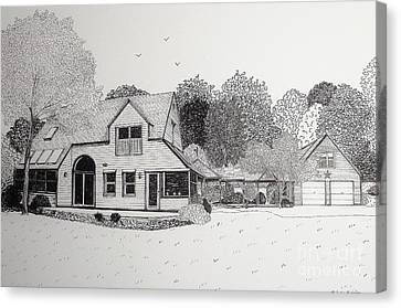 C And P's House  Canvas Print by Michelle Welles