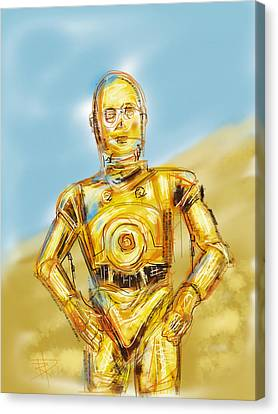 C3po Canvas Print by Russell Pierce