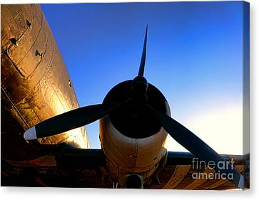 C47 Sunset Canvas Print by Olivier Le Queinec
