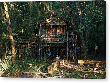Cabin Fever Watercolor Canvas Print by Joseph G Holland