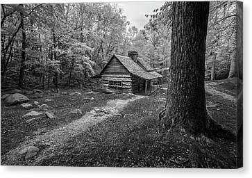 Cabin In The Cove Canvas Print by Jon Glaser