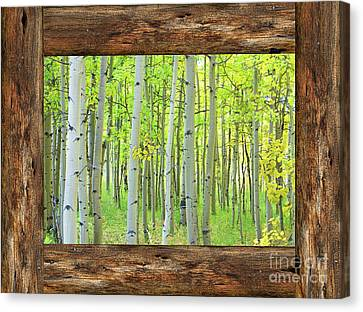 Cabin Window View Into The Woods Canvas Print by James BO Insogna