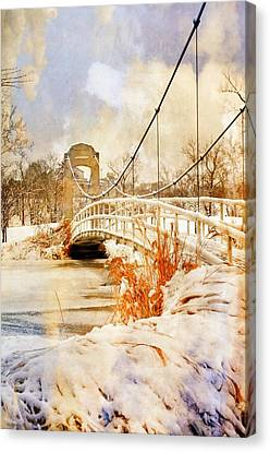 Cable Bridge Canvas Print by Marty Koch