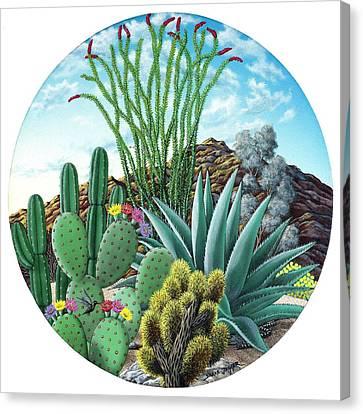 Cactus Garden 2 Canvas Print by Snake Jagger