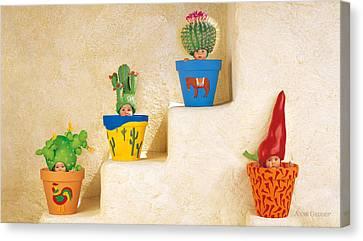 Cactus Pots Canvas Print by Anne Geddes