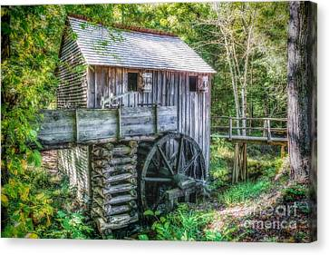 Cade Cove Grist Mill Canvas Print by Nick Zelinsky