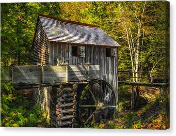 Cades Cove John Cable Grist Mill - 1 Canvas Print by Frank J Benz