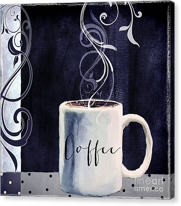 Cafe Blue I Canvas Print by Mindy Sommers