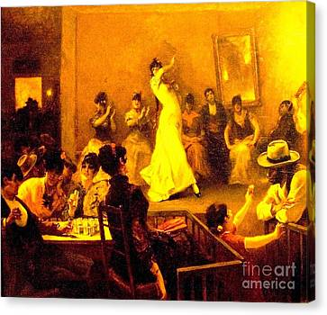 Cafe Del Buzero - Sevilla Canvas Print by Roberto Prusso