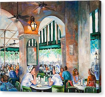Cafe Girls Canvas Print by Dianne Parks