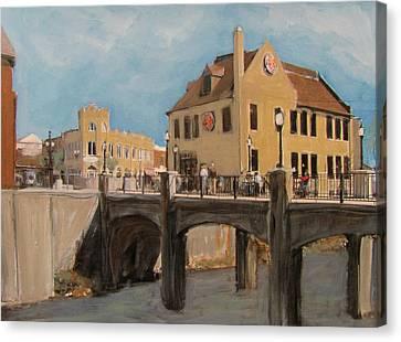 Cafe Hollander 1 Canvas Print by Anita Burgermeister