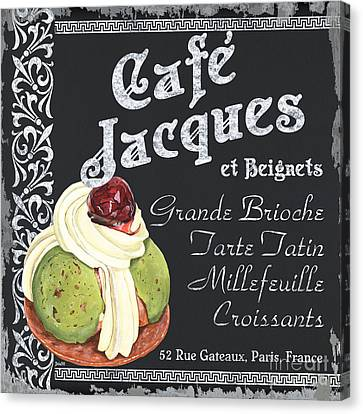 Cafe Jacques Canvas Print by Debbie DeWitt