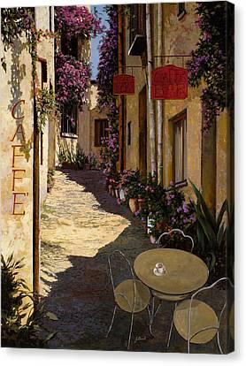 Cafe Piccolo Canvas Print by Guido Borelli