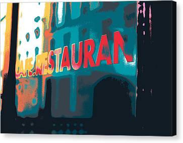 Cafe Restaurant  Canvas Print by Shay Culligan