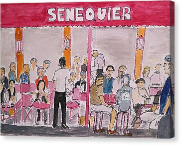 Cafe Senequier St Tropez 2012 Canvas Print by Bill White