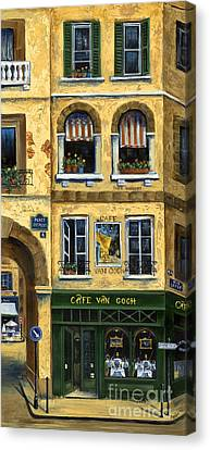 Cafe Van Gogh Paris Canvas Print by Marilyn Dunlap