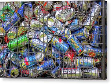Caged Cans Canvas Print by Randy Steele