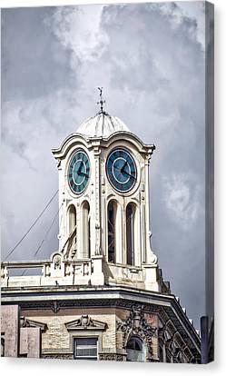 Cailiforna Long Beach Clock Tower Canvas Print by Thomas Woolworth