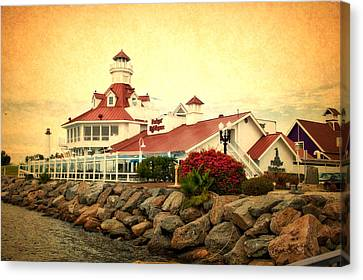 Cailiforna Long Beach Parkers Lighthouse Textured Canvas Print by Thomas Woolworth