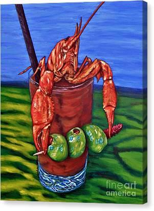 Cajun Cocktail Canvas Print by JoAnn Wheeler