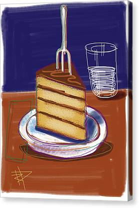 Cake Canvas Print by Russell Pierce