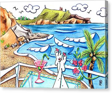 Cala Plomo Costa Del Sol - Parque Natural Cabo De Gata Almeria Canvas Print by Arte Venezia