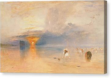 Calais Sands At Low Water Canvas Print by Joseph Mallord William Turner
