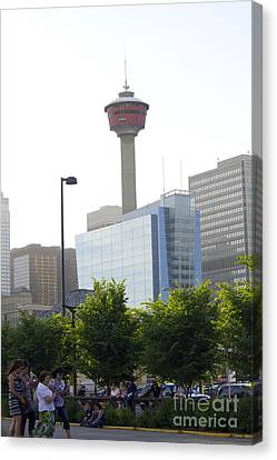 Calgary Tower View 2 Canvas Print by Donna Munro