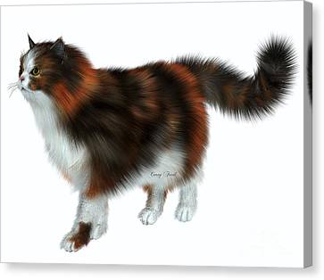 Calico Cat Canvas Print by Corey Ford