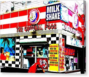 Califorinia Burger Joint  Canvas Print by Funkpix Photo Hunter