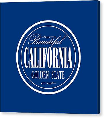 California Golden State - Tshirt Design Canvas Print by Art America Online Gallery