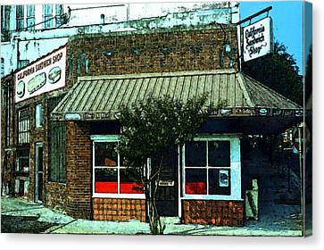 California Sandwich Shop   Canvas Print by Wayne Archer