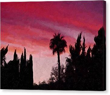 California Sunset Painting 1 Canvas Print by Teresa Mucha