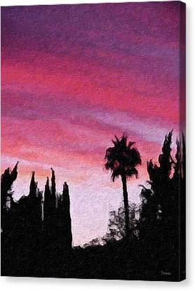 California Sunset Painting 2 Canvas Print by Teresa Mucha
