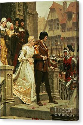 Call To Arms Canvas Print by Edmund Blair Leighton
