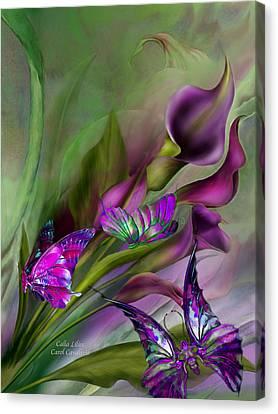 Calla Lilies Canvas Print by Carol Cavalaris