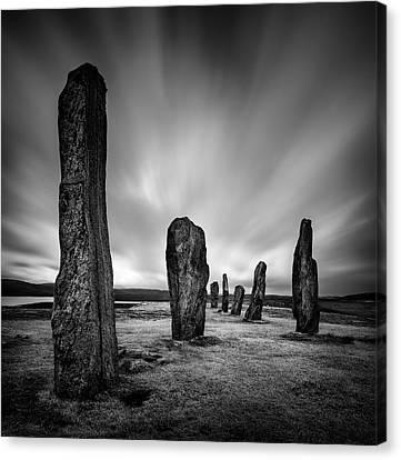 Callanish Stones 2 Canvas Print by Dave Bowman