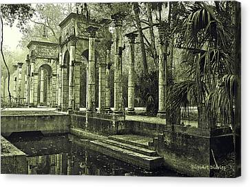 Calle Grande Ruins Canvas Print by DigiArt Diaries by Vicky B Fuller