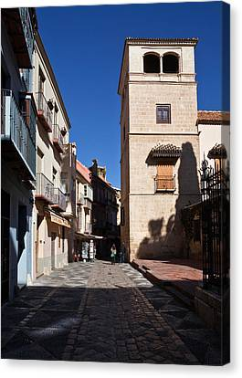 Calle San Agustn,malaga City Canvas Print by Panoramic Images