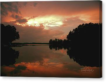 Calm Water Reflection Canvas Print by Tony Hill