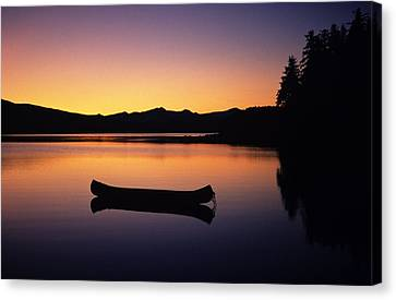 Calming Canoe Canvas Print by John Hyde - Printscapes