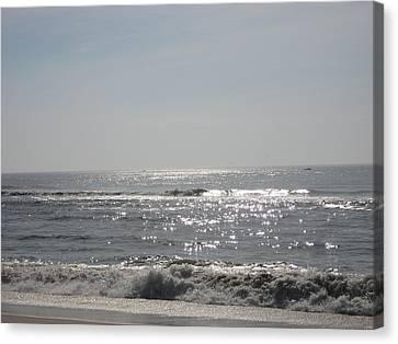 Calming Waves Canvas Print by Jennifer  Sweet