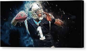 Cam Newton  Canvas Print by Afterdarkness
