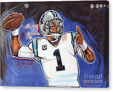 Cam Newton Canvas Print by Dave Olsen