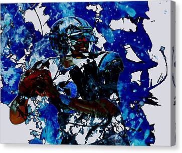 Cam Newton Dominating The Game Canvas Print by Brian Reaves